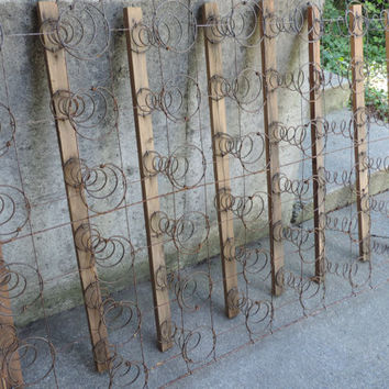 Vintage Mattress Springs Wall Hanging Industrial Salvage Distressed Bed Springs Decor Photo Prop Shop Set Display Outdoor Design