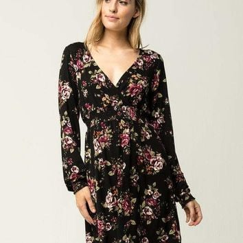 OTHERS FOLLOW Smocked Floral Dress