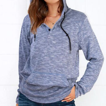 Loose Large Size Hooded Sweater Shirt  12696