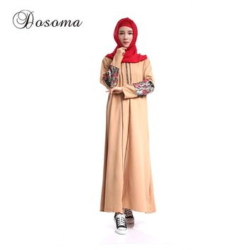 Muslim Women Sleeve Maxi Dress Sequin Abaya Kimono Islamic Robe Burka Vestidos Pattern Turkey Instant Hijab Arab Prayer Clothing
