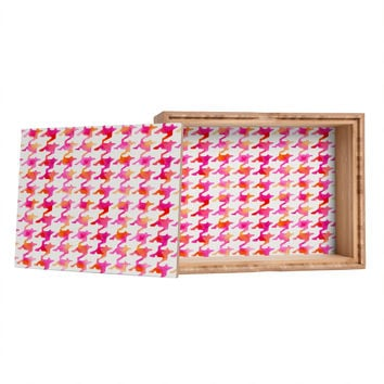 Betsy Olmsted Watercolor Houndstooth Jewelry Box