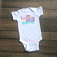 beach hair dont care, beach shirt, beach baby shower gift, baby girl summer clothes, spring baby clothes, toddler summer clothes, beach babe
