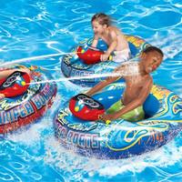 Kids Inflatable Motorized Water Blaster Swimming Pool Bumper Boat for Kids