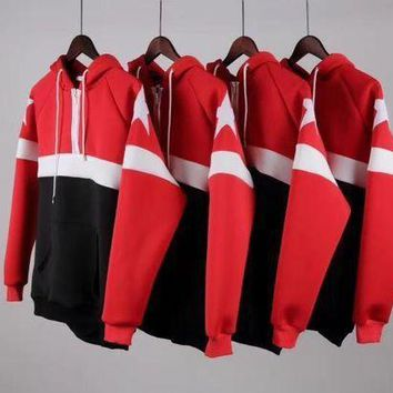 CREYKH7 Givenchy new five-star red and black spell space cotton air layer hooded sweater couple sweater