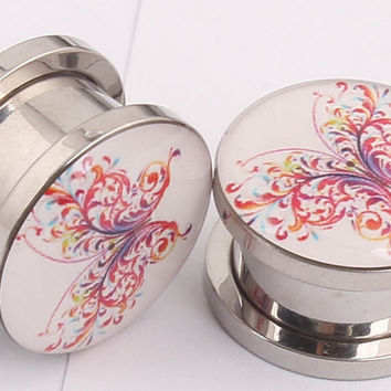 Abstract Butterfly Plugs