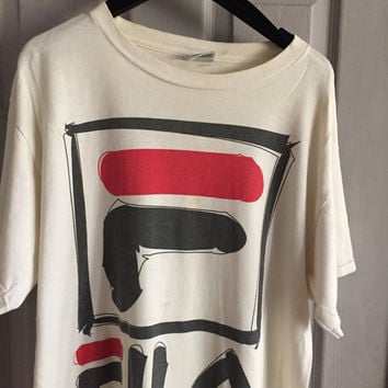 Vintage 90s official Fila tennis shirt 90s hip hop clothing urban streetwear street wear