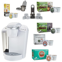 Keurig K55 Coffee Maker w/ My K-Cup, 43 K-Cup Pods & Water Filters — QVC.com