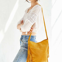 Ecote Suede Fringe Bucket Bag - Urban Outfitters