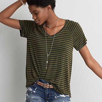 AEO Soft & Sexy Favorite T-Shirt , Leaf Green