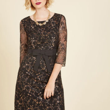 Defined to Refine Lace Dress in Black | Mod Retro Vintage Dresses | ModCloth.com