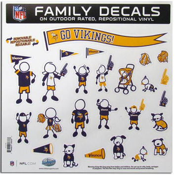 Minnesota Vikings NFL Family Car Decal Set (Large)