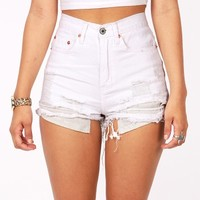 Shredder High Waist Shorts | Denim Shorts at Pink Ice