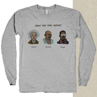 kanye west ,great men thru history t-shirt long sleeves happy feed