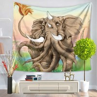 Creative  Elephant Mandala Tapestry Wall Hanging Bedspread Throw Hippie Boho Decoration 200*150cm 150*130cm Hot Selling