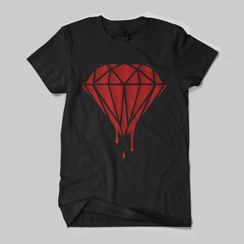 Limited Blood Diamond Red Color Logo Shirt Black and White Shirt Men or Women Shirt Unisex Size - NZR
