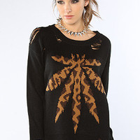 UNIF The Weed Leopard Sweater