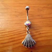 Seashell Belly Button Ring by ChelseaJewels on Etsy