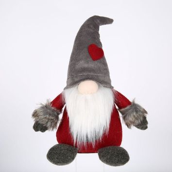 Christmas Decoration Swedish Santa Gnome Plush Handmade Scandinavian Elf Dwarf Household Christmas Decorations for Home