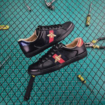 Gucci Ace Embroidered Sneaker Black - Best Online Sale