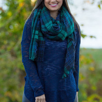Blanket Scarf-Green
