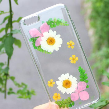 Nice Petals Case 100% Handmade Dried Flowers Cover for iPhone 7 7Plus & iPhone 6 6s Plus + Gift Box B61