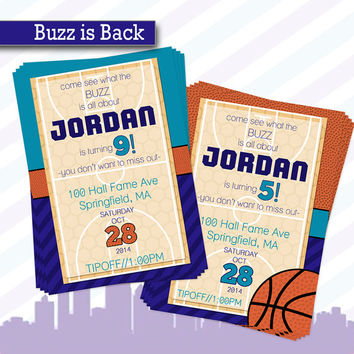 Charlotte Hornets Inspired Birthday Party Invitation  | Basketball Birthday Invite | Tween Sports Birthday Invitation