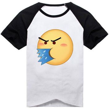 ESBON 18Colors Emoji Emoticons Smiley Faces Funny Faces T-shirt Cosplay Costume Cute Unisex Short Sleeve Tee Shirt Daily Casual Tops