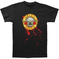 Guns N Roses Men's  Bullet T-shirt Black Rockabilia