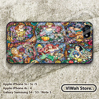 Disney Princess iPhone 5 Case, Princess Stained Glass iPhone 5 5s 5c Hard Case Rubber Case, cover skin case for iPhone 5 5s 5c case