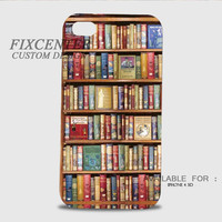 Library Bookshelf 3D Cases for iPhone 4,4S, iPhone 5,5S, iPhone 5C, iPhone 6, iPhone 6 Plus, iPod 4, iPod 5, Samsung Galaxy Note 4, Galaxy S3, Galaxy S4, Galaxy S5, BlackBerry Z10 phone case design
