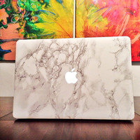 """MacBook Marble Decal Laptop Skin - Fits MacBook Pro + Pro Retina 13"""" and 15"""" Models"""