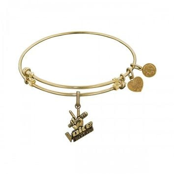 THE VOICE ANGELICA BANGLE - BRASS WITH YELLOW FINISH