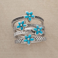 TURQUOISE BOUQUET RING SET         -                  Stack         -                  Rings         -                  Jewelry                       | Robert Redford's Sundance Catalog