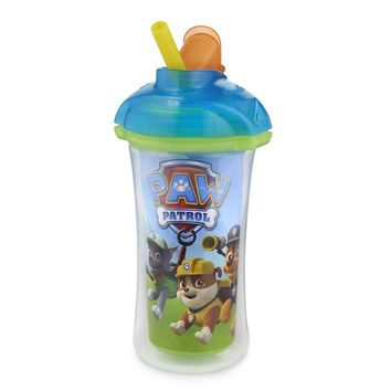 Munchkin Paw Patrol Click Lock Insulated Straw Cup - 9 Ounce - Blue