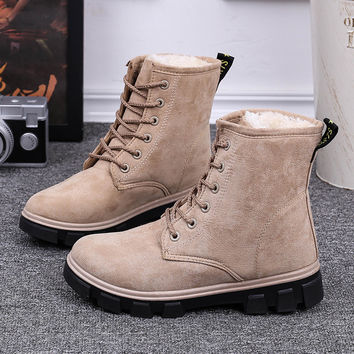 Winter Warm Cotton Booties Winter Matte Boots [9605266831]