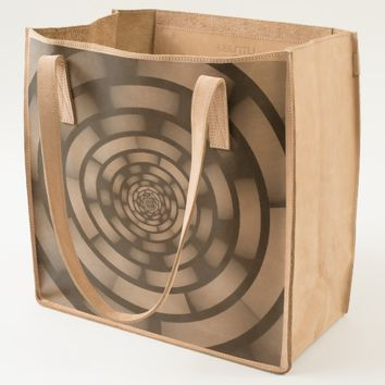 Round and Psychedelic Modern Fractal Art Tote