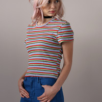PYLO BABY TEE IN CANDY STRIPE