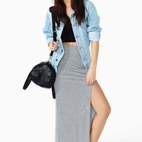 Highway Maxi Skirt - Stripe