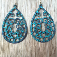 Late Morning Love Earrings - Blue