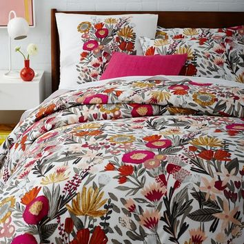 Brushstroke Floral Duvet Cover + Shams