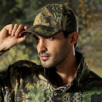 Camo Bionic Outdoor Hunting Snapback Hats Baseball Cap Tactical Hip Hop Adjustable for men women