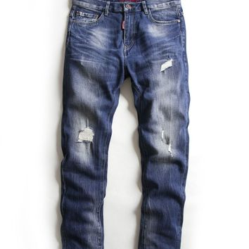Ripped Holes Jeans [10488643331]