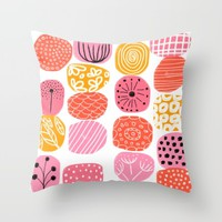 summer garden stories Throw Pillow by Her Art
