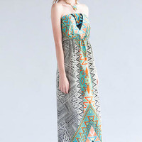 LAURIE PRINTED MAXI DRESS