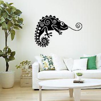 Wall Stickers Vinyl Decal Chameleon Lizard Reptile Animal Room Decor Unique Gift (ig980)