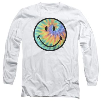 Smiley World - Tie Dye Face Long Sleeve Adult 18/1