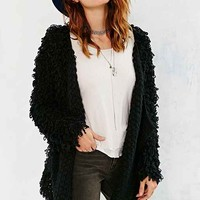 Glamorous Loopy Cardigan Sweater- Black