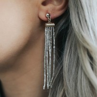 CHAMPAGNE POP EARRINGS - SILVER