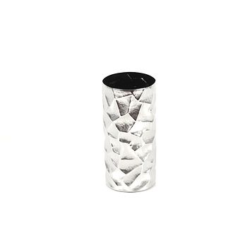 Faceted Vase Small in Elegant Silver