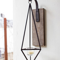 Hanging Metal Diamond Wall Candle Sconce